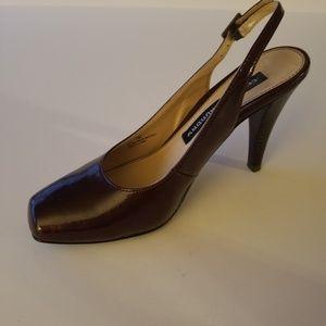 Chinese Laundry slingback heel, burgundy